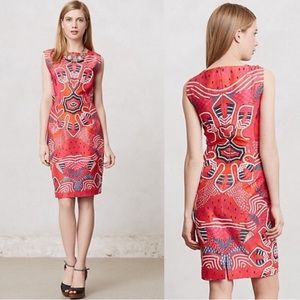 Anthropologie Mangala Embroidered Pencil Dress